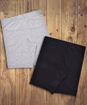 Charm n Cherish Solid Daily Wear Pack Of 2 Shorts - Black & Grey