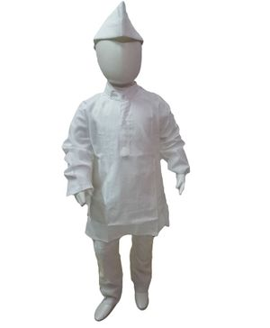 BookMyCostume Indian Politician Neta Ji Fancy Dress Costume - White
