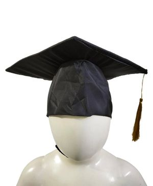 BookMyCostume Graduate Scholar Cap Graduation Day & Fancy Dress Costume Accessory - Red