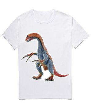 Awabox Half Sleeves Dinosaur Print Tee - White