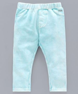 Babyoye Cotton Solid Colour Pull Up Pants - Blue