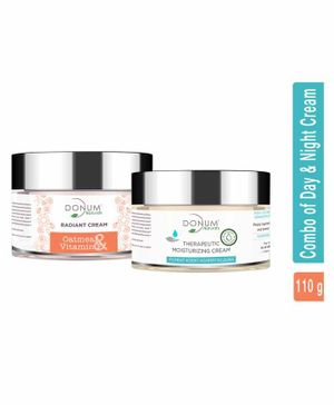 Donum Naturals  Combo of 5 In 1 Anti Ageing Radiant  Day Cream  With Spf 15 & Therapeutic Repairing Night Cream - 60 gm & 50 gm