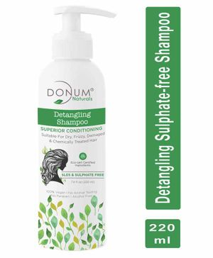 Donum Naturals Detangling Superior Conditioning Shampoo  Sulphate Free  For Dry, Frizzy, Damaged & Chemically Treated Hair -220 ml
