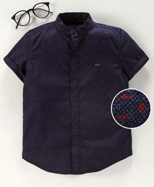 Under Fourteen Only Printed Half Sleeves Shirt - Navy
