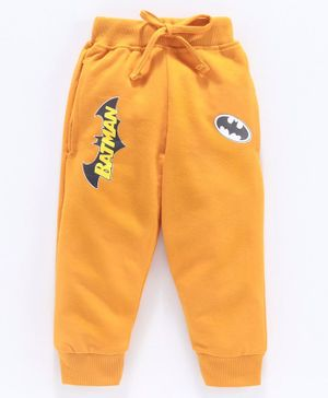 Eteenz Full Length Track Pant Batman Logo Print - Yellow