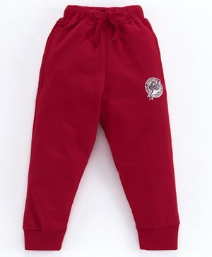 Eteenz Full Length Lounge Pant with Drawstring - Maroon