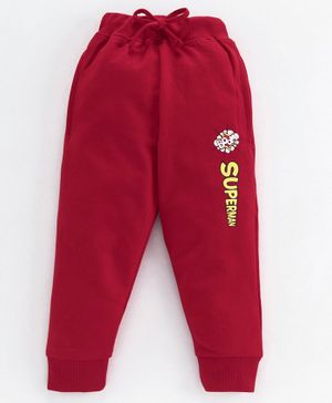 Eteenz Lounge Pant Text Print - Maroon