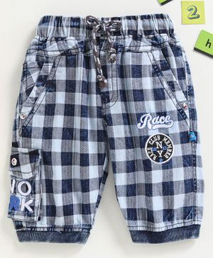 Chicklets Checked Shorts - Blue