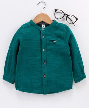 LC Waikiki Full Sleeves Solid Shirt - Green