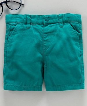 LC Waikiki Solid Shorts - Green