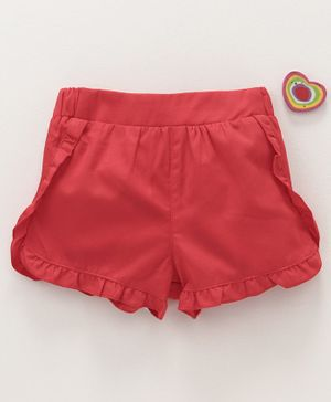 LC Waikiki Frilled Shorts - Red