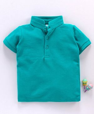 LC Waikiki Half Sleeves Polo Neck Tee - Green