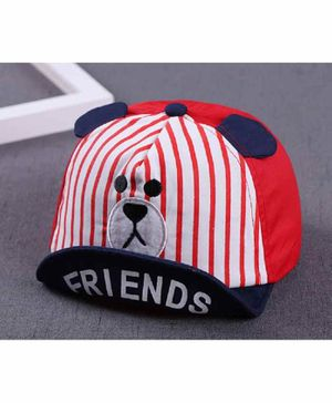 Ziory Cap Bear Design  - Red White