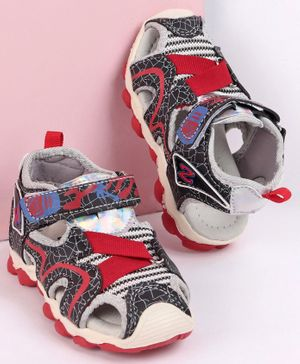 Cute Walk by Babyhug Closed Toe Sandals - Red