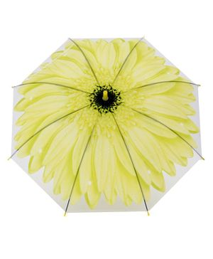 Umbrella Flower Print - Yellow