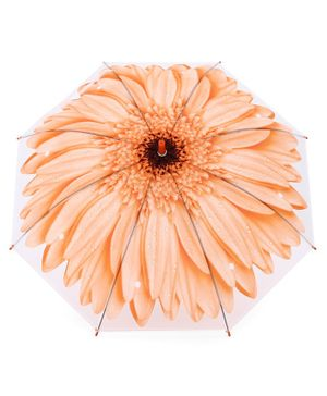 Umbrella Flower Print - Peach