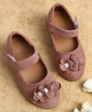 KIDLINGSS Pearl & Flower Detailed Mary Janes - Pink