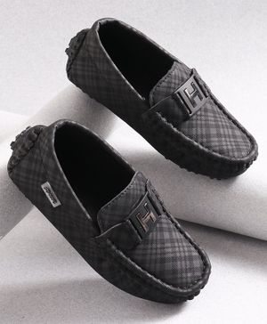 KIDLINGSS Checked Loafers - Black