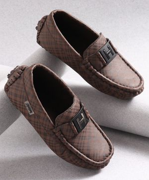 KIDLINGSS Checked Loafers - Brown