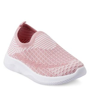 Kittens Shoes Striped Pattern Sneakers - Pink