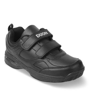 Kittens Shoes Double Velcro School Shoes - Black