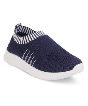 Kittens Shoes Striped Detailing Shoes - Blue