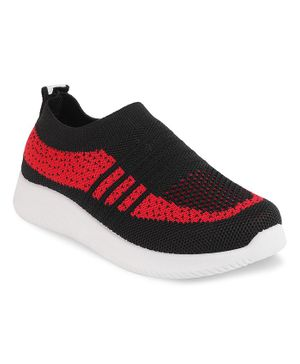 Kittens Shoes Striped Design Shoes - Black
