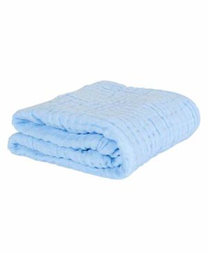Moms Home Super Soft Absorbent Muslin 6 Layer Towel - Blue