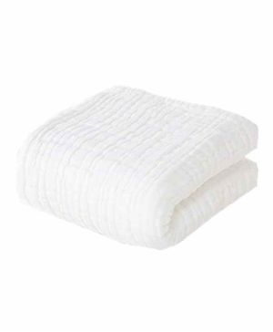 Moms Home Super Soft Absorbent Muslin 6 Layer Towel - White