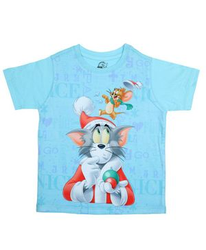 Tom and Jerry By Crossroads Printed Half Sleeves T-shirt - Blue