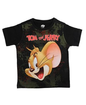 Tom and Jerry By Crossroads Printed Half Sleeves T-shirt - Green