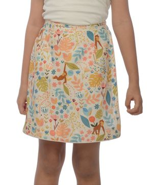Miko Lolo Organic Cotton Monkey Print Skorts - Multi Colour