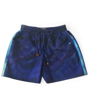 Miko Lolo Galaxy Print Organic Cotton Shorts - Blue