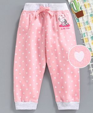 Babyhug Full Length Lounge Pants Hello Kitty Print - Pink