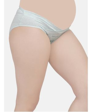 Mamma Presto Printed Low Rise Maternity Panty - Light Grey