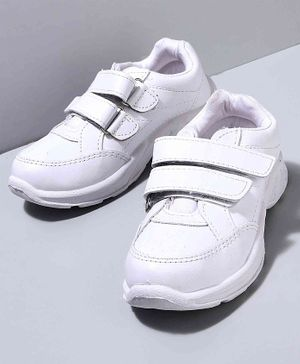 Cute Walk by Babyhug School Shoes - White