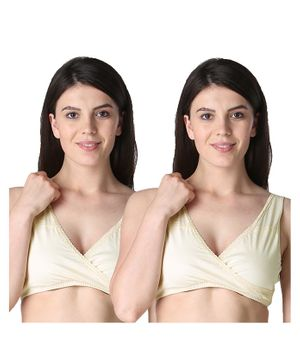 Morph Maternity Pack Of 2 Leak Proof Sleep Nursing Bras - Cream