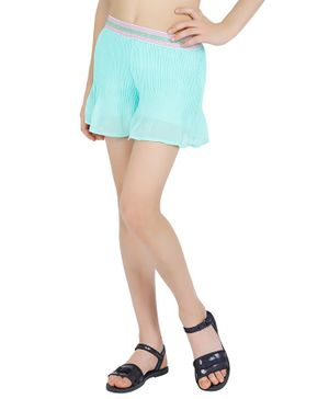 One Friday Solid Pleated Skirts - Mint Green