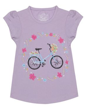 Nap Chief Organic Cotton Bicycle Printed Top - Purple