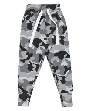Nap Chief Organic Cotton Camouflage Print Joggers - Grey