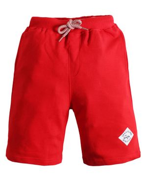 Soft Touche Solid Front Pocket Shorts - Red