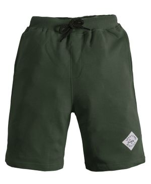 Soft Touche Solid Front Pocket Shorts - Green