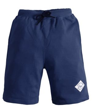 Soft Touche Solid Front Pocket Shorts - Navy Blue
