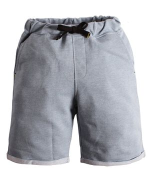 Soft Touche Solid Side Pocket Shorts - Light Grey
