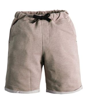 Soft Touche Solid Side Pocket Shorts - Cream