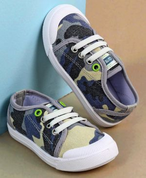 Cute Walk by Babyhug Casual Shoes Camouflage Print - Blue