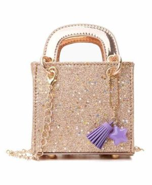 Vismiintrend Glitter Cross Body Sling Bag - Golden