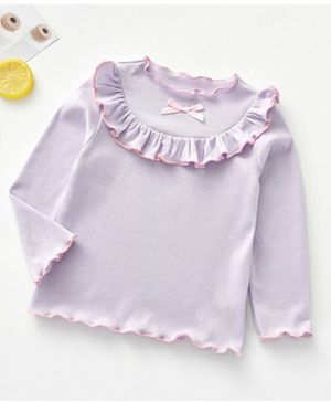Kookie Kids Full Sleeves Winter Wear Top - Purple
