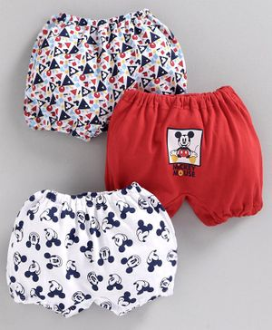 Bodycare Bloomers Mickey Mouse Print Pack of 3 (Color May Vary)