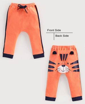 Babyoye Full Length Cotton Lounge Pant 3D Detail - Orange